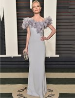 best oscar gowns - Best Dress Straight Long Gowns At Oscar Awards Feathers Off the Shoulder Celebrity Dressess Inpired by Kate Bosworth evening dress