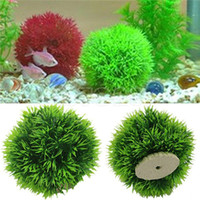 Wholesale Artificial Aquatic Plastic Plants Aquarium Grass Ball Fish Tank Ornament Decor