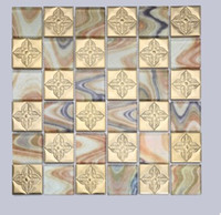 Wholesale Mosaic factory direct sales of stainless steel mosaic background wall Chinese square stainless steel mosaic D