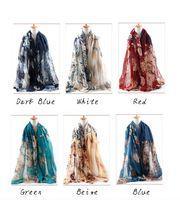 Wholesale 2016 new scarf summer pashmina women s scarf long shawl printed cape Polyester chiffon tippet muffler echarpes Scarves ZA0096