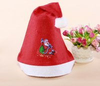 Wholesale hot style hat red non woven Christmas Santa Claus display magic cake gift and other styles luxury hat