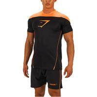 bear muscles - s xl New T Shirt men Short Sleeve Gymshark Tops Hot O Neck Bodybuilding Fitness Camisetas Muscle Print Male Sportwear WAIBO BEAR