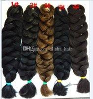 Wholesale 100 kanekalon quot XPression Braiding Hair Ultra Braid Hair Bulk For Braiding Expression Jumbo Braids Synthetic Hair Expression