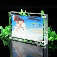 Wholesale Acrylic Magnet Photo Frame x102mm mm Bedroom Decor Creative Crystal Picture Frame Can Customize Any Size