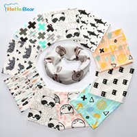 Wholesale Cute New Cotton Baby Scarf Children Winter O Ring Scarf For Girls Boys Knit Scarf Child Neck Scarves Baby Bibs
