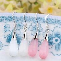 Wholesale One pair of opal earrings drops new fashion long Drop earrings Sample Jewelry for girl women
