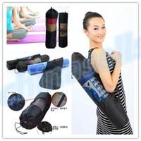 Wholesale new yoga popular Portable Yoga Mat Bag Polyester Nylon Mesh black backpack for health beauty sports Storage bag