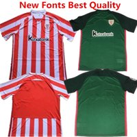 athletic clubs - 2016 Shirts Athletic Bilbao Soccer Jersey Athletic Club de Bilbao Camisetas Futbol DE MARCOS Red Black Football Shirt Laporte Iturraspe
