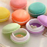 Wholesale Kawaii Candy Stationery Storage Box Mini Macaron Case for Clips Eraser Jewelry Organizer Table Decoration