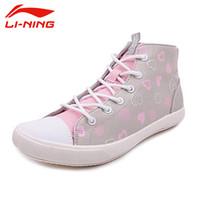 absorbant fabric - LI NING Skateboarding Shoes Canvas Breathable Light Wearable Sweat Absorbant Lace Up Sport Shoes Women Sneakers ALAJ026 XYE005