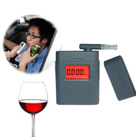 Wholesale Fashion High Accuracy Mini Alcohol Tester Breathalyzer Alcometer Alcotest Remind Driver Safety In Roadway diagnostic tool DHL
