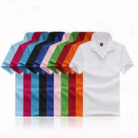 Wholesale LJJG338 POLO T Shirt Summer Unisex Men Women Loose Short Sleeve Turn Down Collar Casual Cotton Solid Color Shirt M XL