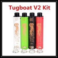Wholesale USA Hot Tugboat V2 Jellyfish Copper Mod Kit Battery Tube with Hybrid Connection Delrin Insulator DIY Mechanical Starter Kits