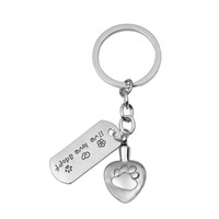 Wholesale Stainless Steel Urn Keychain with Pet Tag Cremation Pendant Memorial Ash Keepsake Jewelry with Gift Bag