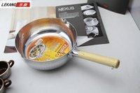 Wholesale High quality wooden handle thickening japanese style of aluminum pot aluminum pot porridge pot milk pot cm
