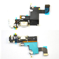 Wholesale For Apple iphone Charging Port Dock Connector Headphone Jack Audio Flex cable Mic Antenna white