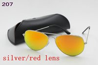 arrival flash designer - New Arrival High Quality Mens Womems Designer mm Sunglasses Glasses Gold Flash red Glass mm Oculos Eyewear Drop Shipping