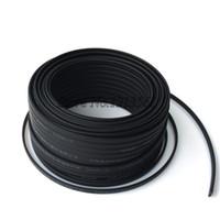 Cable calefactor techo Baratos-Al por mayor-libre del envío de DHL Anti-helada Protección del cable calefactor para la pipa de agua / Techo 230V 10MM 65Temp autorregulable 100m eléctrico