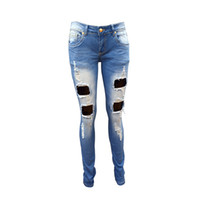 Wholesale 2016 New Fashion women vintage holes Ripped jeans boyfriend jeans for women trousers