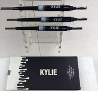 Wholesale 60pcs KYLIE Brow definer Hills Brow Pencil Double ended with eyebrow brush g Color A Sourcils Fin Skinny in stock kylie kit