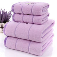 Wholesale new arrival Lavender cotton fabric towel set bath towels for adults child pc face towel for bathroom pieces