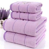 al por mayor bath set-Nuevas toallas de baño determinadas de la toalla de la tela de algodón de la lavanda de la llegada 100% del envío libre para la toalla de cara 2pcs de los adultos / del niño 1pc para el cuarto de baño 3 pedazos