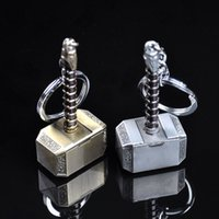 Wholesale Avengers Thor Hammer Car Truck SUV Boat Home Office Zinc Metal Necklace Keychain Pendant Key Ring Chains Toys Gifts