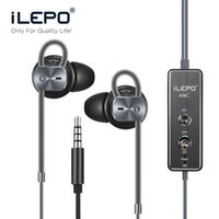 active noise cancelling earphones - i20 Active Noise Cancelling Earphone Headphones Stereo Decrease Environment Noise DB With Micphone for Any Mobile phones for iPhone Device