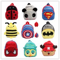Wholesale Cute cartoon kids plush backpack toys mini schoolbag Children s gifts kindergarten student bags lovely Mochila Christmas gifts