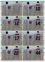 anthony products - New Product Men Chicago Cubs Baseball Jersey Ron Santo Kyle Schwarber Anthony Rizzo White Stripe Stitched Jerseys