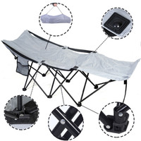 Wholesale Portable Folding Camping Adventure Camp Bed Durable Hammock Sleeping Cot Steel