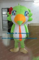 big green parrot - Smiling Green Sparrow Spadger Parrot Parakeet Macaw Bird Mascot Costume Cartoon Character Mascotte Adult Big Tail ZZ1130 Free Sh