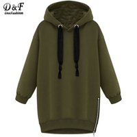 Wholesale 2016 Brand Vintage Style Women Winter Clothes Oversized Hoodies Hooded Long Sleeve Zipper Casual Sale Loose Sweatshirt
