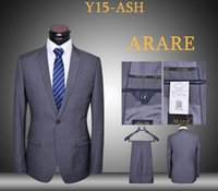 ash coats - Slim fit suits latest coat and pants piece blue black ash uniform dressing blazers daily suits set one button tuxedos