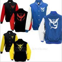 hoodies wholesale - Men Poke Go Hoodies Poke Sweatshirts Pullover Mens Fashion Pikachu Jacket Poke Ball Coat Cardigan Pocket Monster Outwear Poke Jumpers B725
