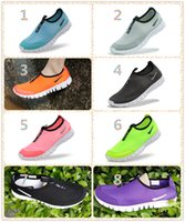 beach running shoes - Hot Sale Men Women Summer Flats Fashion Casual Breathable Comfortable Mesh Shoes Simple Fashion Sport Shoe Beach Lovers Boots Eur