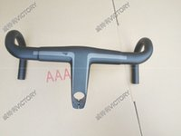Wholesale Road Bicycle Handlebar mm x mm H11 Aerocockpit CF Integrated Bar T800 UD Weave Carbon Handlebar