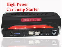 Wholesale High Power Multi Function V Car Jump Starter USB Phone Laptops Power Bank Portable Auto Battery Booster Charger SOS Lights
