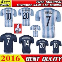 Wholesale Top AAA Quality Argentina Jerseys MESSI Copa America Home Away Argentina Soccer Jersey Soccer uniform shirts