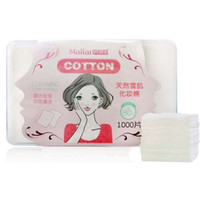 achat en gros de œil organique-1000pcs / box Maquillage cosmétiques Maquillage de coton faciale Puff Organic Cotton Swab Box Eye Cleansing Pads