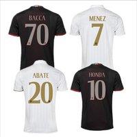 Wholesale 2016 Top Guality AC milan Camiseta MENEZ EL SHAARAWY Honda soccer jersey survetement kaka Maldini football shirts