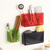 Wholesale Bathroom Wall Shelve satisfied bathroom close cosmetic storage rack kitchen rack suction wall Toothbrush Sucker Holder Organizer