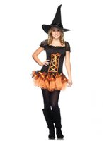 adult tutu black - Adult Witch Halloween Costumes For women Sexy Black TuTu Dress With Witch Hat Halloween Cosplay Costume