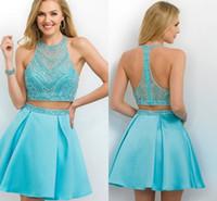 Cheap Short Aqua Homecoming Dresses | Free Shipping Short Aqua ...