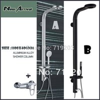 aluminum shower panel - Shower Panel Aluminum Alloy Shower Column Black Silver Color With Raintal Shower Head With shower faucet