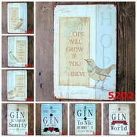 antique bird pictures - NEW quot Bird and Poetry quot Tin metal Signs Vintage House Cafe Restaurant Poster Painting x30 cm wall pictures