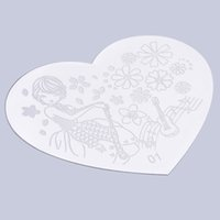 beautiful templates - Heart Shape Nail Art Printing Plate Image Stamping Plates Manicure Template create beautiful nail designs Popular Hot Selling