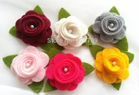 Wholesale Multicolor Felt Flower DIY For Children Hairbands Girl Headband Accessories Fashion Decoration Flower
