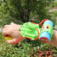 Wholesale Outdoor Summer Plastic Kids Wrist Water Gun Squirt Toy Gun Water Sprinkling Water Pistol Shooter for Swimming Pool Beach VE0081
