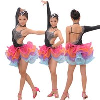 Wholesale Girl Latin Dance Dress rumba samba Clothing Girls Salsa Dresses Girls Stage Wear Costumes kid s ballroom dressing